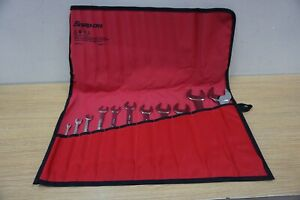 Snap On 11 Pc Metric 15 Offset Low Torque Slimline Open End Wrench Set 6 36mm