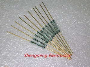 10pcs Reed Switch Mka10110 1 8x10mm Green Glass Usually Open