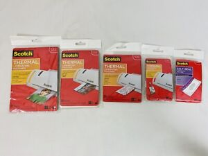 Thermal Laminating Pouches Self Seal Lot Various Sizes Scotch Qty 75