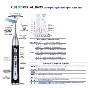 Usa Azdent Dental Wireless Led Curing Light Lamp Plus105 1 Second Curing Black