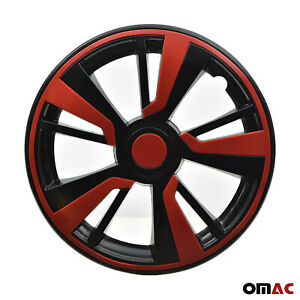 15 Hubcaps Wheel Rim Cover Black With Red Insert 4pcs Set For Kia