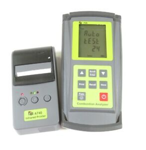 Tpi 708 Combustion Flue Gas Analyzer Meter W A740 Infrared Printer