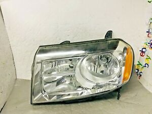 Oem 2012 2013 2014 2015 Honda Pilot Left Lh Driver Halogen Headlight Cracked Tab