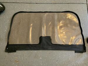 1997 2006 Jeep Wrangler Soft Top Rear Clear Window Replacement Black Denim Used