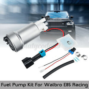 450lph High Pressure Fuel Pump Install Kit For Walbro E85 Racing F90000274 Usa