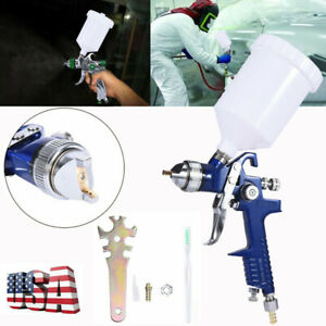 Air Spray Gun Hvlp 20oz Feed Cup Gravity Feed 1 4mm Nozzle Auto Body Us