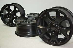 17 Jeep Wrangler Rubicon Factory Oem Wheels Rims Set Of 5 Black 6bz39trmaa