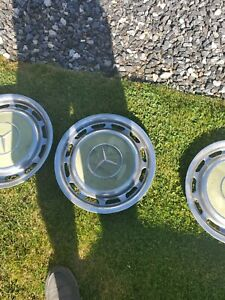 1970s 1980s Mercedes Benz Oem Vintage 14 Full Set Wheel Cover Hubcap Green