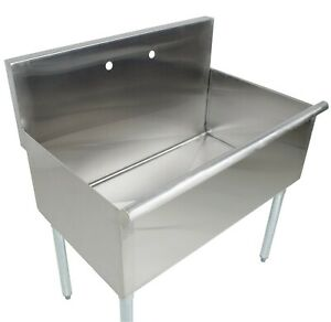 36 16 gauge Stainless Steel One Compartment Commercial Utility Sink 36 X 21