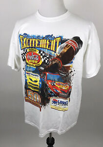 Chase Authentics Nascar Coca-Cola 600 T Shirt Mens Sz XL Big Print Double Sided