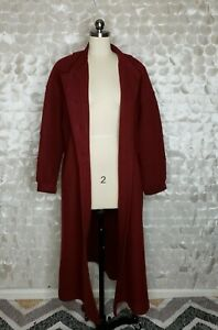 Geiger Austria Boiled Wool Trench Coat Red