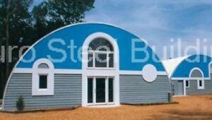 Durospan Steel 52x32x18 Metal Quonset Hut Diy Home Building Kit Open Ends Direct