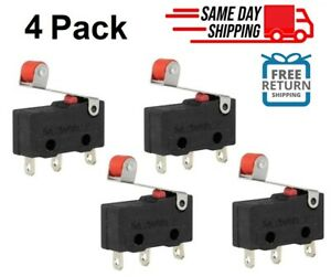 3x Durable Micro Roller Lever Arm Open Close Limit Switch Kw12 3 Microswitch