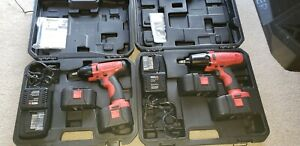Matco Cordless Set Of Impact Wrenches 3 8 And 1 2 Inch Mint Condition