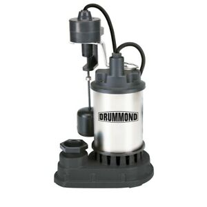 Drummond 1 3 Hp Submersible Sump Pump With Heavy Duty Vertical Float Switch 4000