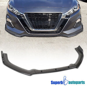 For 2019 2020 Nissan Altima 3pc Front Bumper Lip Spoiler Splitter Glossy Black