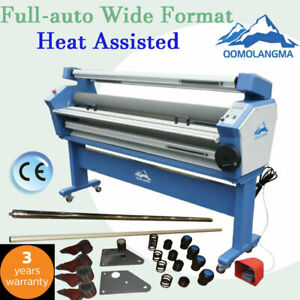 Us Qomolangma 55in Full auto Wide Format Cold Laminator Heat Assist With Trimmer