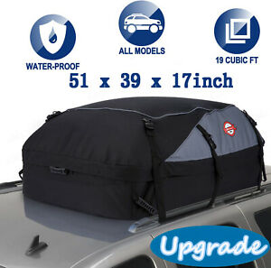 20 Cu ft Car Van Roof Travel Cargo Bag Box Storage Rooftop Luggage Carrier