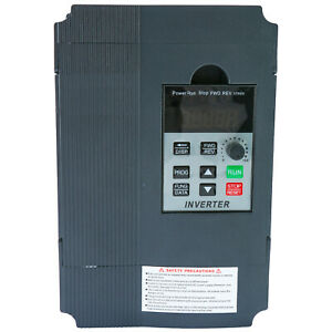Hot 2 2kw 220v 12a Single Phase Variable Speed Control Drive Converter Us Ship