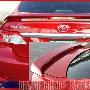 For 2009 10 11 12 2013 Toyota Corolla Factory Style Spoiler Wing W led Primer
