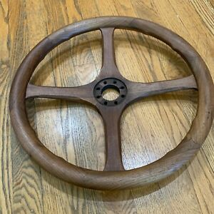 Vintage Wooden Steering Wheel