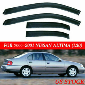 Window Visors Rain Guards Deflectors For Nissan Altima 1998 2001 New Good