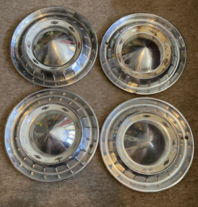 Set Of 4 Vintage 1955 Nomad Belair Chevy Hub Caps Wheel Cover 15