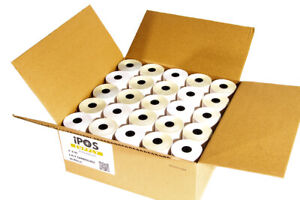 3 X 95 2 ply Carbonless Paper 50 Rolls case White Canary Fast Shipping