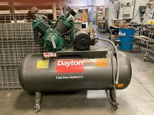 Dayton Air Compressor 5f233a Never Used It Was A Backup Free Delivery