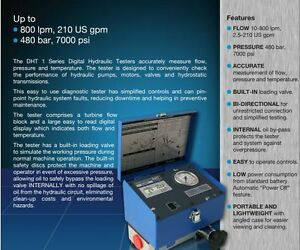 Dht401 b 6 Webtec Digital Flowmeter Hydraulic Tester Test Unit