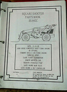 Terex Ss 842 C Extendo Boom Square Shooter Forklift Parts Book