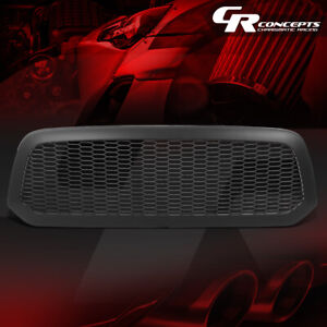 Honeycomb Mesh Matte Front Bumper Grille Grill For 2013 2020 Ram 1500 Classic