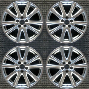 Fits Lexus Gs350 Replica Hyper Silver 19 Wheel Set 2014 To 2015