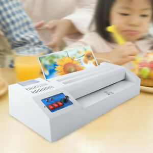 Thermal Laminator Machine 4 Rollers System Thermal Hot Cold Film Laminating 13