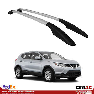 Top Roof Rack Side Rails Bars Silver Aluminum For Nissan Rogue Sport 2017 2020