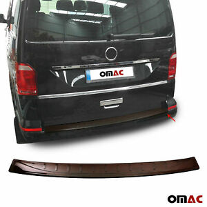 For Vw Transporter T6 2015 2019 Genuine Red Carbon Rear Bumper Guard Trunk Sill