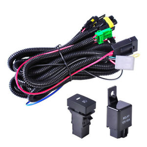 H11 Fog Light Wiring Harness Led Indicators 12v 40a Relay Switch For Toyota