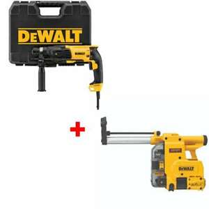 Dewalt D25133k 1 Pistol Grip Sds Rotary Hammer With Free Dust Extractor