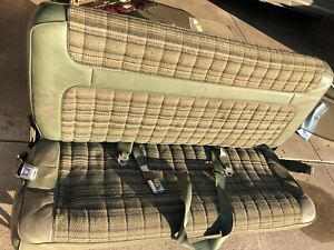 1980 1986 Ford Bronco Rear Seat Belts Oem Used Original Green No Shipping