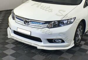 For 12 Honda Civic 4dr 9th Jdm Cs style Painted White Front Bumper Body Kit Lip