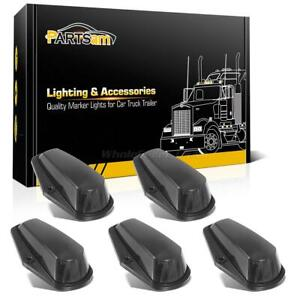 5xcab Roof Top Light Black Lens Base Housing For Ford F 150 250 80 97 Super Duty