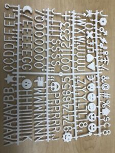 Letters For Sign Message Board 510 Pieces 7 8 Inch Tall