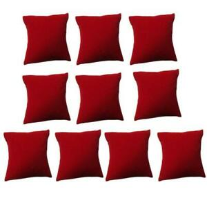 10x set Red Velvet Bracelet Pillow Soft Cushion Watch Jewelry Display Holder