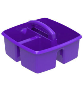 Classroom Caddy Purple Organizer Carrying Case Lot Of 4
