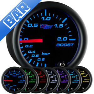 52mm Glowshift Turbo 2 0 Bar Boost Vacuum Gauge W 7 Color Led Display