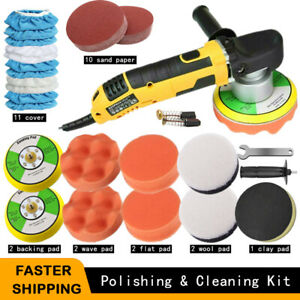 6 Dual Action Polisher Sander Orbital Car Buffer Buffing Machine Polishing Kit