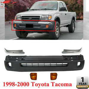 Front Bumper Cover Chrome Trim Signal Lamps For 1998 2000 Toyota Tacoma