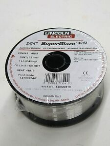 Mig Welding Wire Aluminum Lincoln Electric Ed030310 er4043 045 spool 1