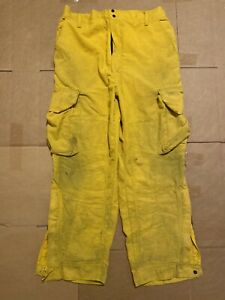Barrier wear Firefighter Wildland Brush Pants Aramid Nomex Reflector Stripe L 30