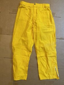 Pia Firefighter Wildland Brush Pants Nomex Yellow M r Waist 31 34 Inseam 30